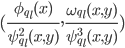 (\frac {\phi_{q_l}(x)} {\psi_{q_l}^{2}(x, y)}, \frac {\omega_{q_l}(x, y)} {\psi_{q_l}^{3}(x, y)})