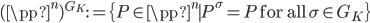 (\pp^n)^{G_K} := \{ P \in \pp^n \mid P^\sigma = P \; \text{for all} \; \sigma \in G_K \}