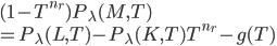 (1 - T^{n_r})P_{\lambda}(M, T) \\= P_{\lambda}(L, T) - P_{\lambda}(K, T)T^{n_r} - g(T)