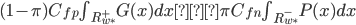 (1-\pi)C_{fp}\int_{R^+_{w^*}}G(x)dx>\pi C_{fn}\int_{R^-_{w^*}}P(x)dx