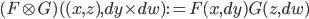 (F\otimes G)( (x, z), dy \times dw) := F(x, dy)G(z, dw)