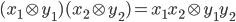 (x_1 \otimes y_1)(x_2 \otimes y_2) =x_1x_2 \otimes y_1y_2