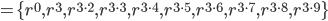 =\{r^0, r^3, r^{3\cdot 2}, r^{3\cdot 3}, r^{3\cdot 4}, r^{3\cdot 5}, r^{3\cdot 6}, r^{3\cdot 7}, r^{3\cdot 8}, r^{3\cdot 9} \}