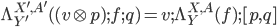 \Lambda^{X',A'}_{Y'}( (v\otimes p);f;q ) =  v;\Lambda^{X,A}_Y(f);[p, q]