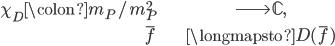 \begin{align} \chi_{D} \colon \mathfrak{m}_P / \mathfrak{m}_P^2 &\longrightarrow \mathbb{C}, \\ \overline{f} &\longmapsto D(\overline{f}) \end{align}