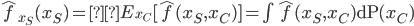 \begin{equation}\hat{f}_{x_S}(x_S)=E_{x_C} [\hat{f}(x_S,x_C) ] = \int\hat{f}(x_S,x_C){\rm dP} (x_C) \end{equation}