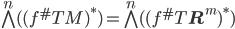 \bigwedge^n( (f^\# TM)^\ast ) = \bigwedge^n( (f^\# T{\bf R}^m)^\ast )