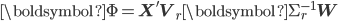 \boldsymbol{\Phi} = \mathbf{X}' \mathbf{V}_{r} \boldsymbol{\Sigma}_{r}^{-1} \mathbf{W}