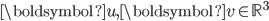 \boldsymbol{u},~\boldsymbol{v}\in \mathbb{R}^3