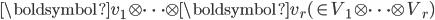 \boldsymbol{v} _1 \otimes \cdots \otimes \boldsymbol{v} _r ( \in V_1 \otimes \cdots \otimes V_r)
