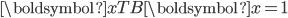 \boldsymbol{x}^\mathsf{T} B \boldsymbol{x}=1