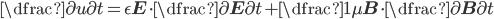 \dfrac{\partial u}{\partial t} = \epsilon \mathbf{E} \cdot \dfrac{\partial \mathbf{E}}{\partial t} + \dfrac{1}{\mu}\mathbf{B} \cdot \dfrac{\partial \mathbf{B}}{\partial t}