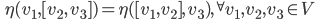 \displaystyle \qquad \eta(v_1 , [v_2 ,\, v_3] ) = \eta ( [v_1 , v_2] ,\, v_3) ,\quad  ^{\forall}v_1, v_2 , v_3 \in V