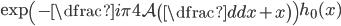 \displaystyle \exp \left(-\dfrac{i\pi}{4} \mathcal{A} \left( \dfrac{d}{dx}+x \right) \right) h_0 (x)