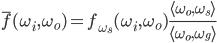 \displaystyle \overline{f}(\omega_i,\omega_o) = f_{\omega_s}(\omega_i,\omega_o) \frac{ \langle\omega_o, \omega_s\rangle }{ \langle\omega_o, \omega_g\rangle }
