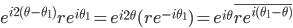\displaystyle{e^{i2(\theta - \theta_1)}re^{i\theta_1} = e^{i2\theta}(re^{-i\theta_1})= e^{i\theta}\overline{re^{i (\theta_1 - \theta)}}}