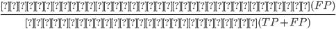 \frac{誤って有意と判定された数(FP) } {有意と判定された数(TP+FP)}