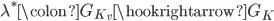 \lambda^* \colon G_{K_v} \hookrightarrow G_{K}