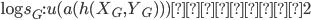 \log s_{G} : u(a(h(X_G, Y_G))) の出力2
