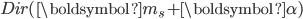\mathit{Dir}(\boldsymbol{m}_{s}+\boldsymbol{\alpha})