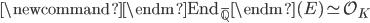 \newcommand{\endm}{\mathrm{End}_{\overline{\mathbb{Q}}}} \endm(E) \simeq \mathcal{O}_K