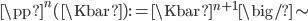 \pp^n(\Kbar) := \Kbar^{n+1} \big/ \sim