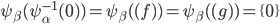 \psi_\beta(\psi_\alpha^{-1}(0)) = \psi_\beta( (f) ) = \psi_\beta( (g) ) = \{ 0 \}