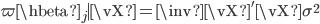 \var{\hbeta_j \mid \vX} = \inv{\vX'\vX}\sigma^2