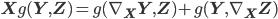 {\bf X} g({\bf Y}, {\bf Z}) =  g(\nabla_{{\bf X}}{\bf Y}, {\bf Z}) + g({\bf Y}, \nabla_{{\bf X}}{\bf Z})