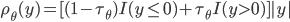 {\rho}_{\theta}(y)=[(1-{\tau}_{\theta})I(y\leq0)+{\tau}_{\theta}I(y\gt0)]|y|