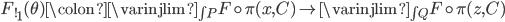 {F_{!}}_{1}(\theta) \colon \varinjlim_{\int\!P} F \circ \pi(x,C) \to \varinjlim_{\int\!Q} F \circ \pi(z, C)