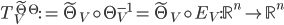 {T_V^{\tilde{\Theta}\Theta} := \tilde{\Theta}_V \circ \Theta_V^{-1} = \tilde{\Theta}_V \circ E_V: \mathbb{R}^n \to \mathbb{R}^n}