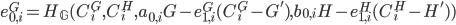 {e^{G}_{0, i} = H_{\mathbb G}(C^{G}_i, C^{H}_i, a_{0, i}G - e^{G}_{1, i}(C^{G}_i - G'), b_{0, i}H - e^{H}_{1, i}(C^{H}_i - H'))}