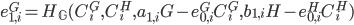 {e^{G}_{1, i} = H_{\mathbb G}(C^{G}_i, C^{H}_i, a_{1, i}G - e^{G}_{0, i} C^{G}_i, b_{1, i}H - e^{H}_{0, i} C^{H}_i)}