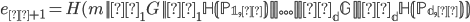 {e_{π + 1} = H(m    α_1G    α_1 \mathbb H(P_{1, π})    ...    α_dG   α_d \mathbb H(P_{d, π}))}