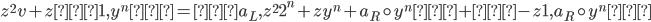 {z^{2}v + z<1, y^{n}> = <a_L, z^{2}2^{n} + zy^{n} + a_R \circ y^{n}> + <-z1, a_R \circ y^{n}>}