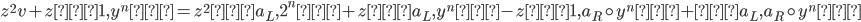 {z^{2}v + z<1, y^{n}> = z^{2}<a_L, 2^{n}> + z<a_L, y^{n}> -z<1, a_R \circ y^{n}> +<a_L, a_R \circ y^{n}> }