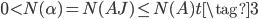 0 < N(\alpha) = N(AJ) \leq N(A)t \tag{3}