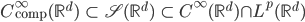 C^{\infty}_{\mathrm{comp}} (\mathbb{R}^d) \ \subset \ \mathscr{S}(\mathbb{R}^d) \ \subset \ C^{\infty}(\mathbb{R}^d) \cap L^p(\mathbb{R}^d)