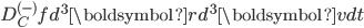 D_C^{(-)}fd^3\boldsymbol{r}d^3\boldsymbol{v}dt