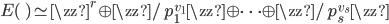 E(\qq) \simeq \zz^r \oplus \zz/p_1^{v_1} \zz \oplus \cdots \oplus \zz/p_s^{v_s} \zz
