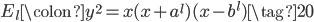 E_l\colon y^2 = x(x+a^l)(x-b^l) \tag{20}
