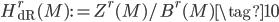 H_{\text{dR}}^{r}(M) := Z^r(M) / B^r(M) \tag{10}
