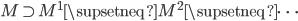 M \supset M^1 \supsetneq M^2 \supsetneq \cdots