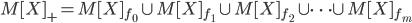 M[X]_+ = M[X]_{f_0} \cup M[X]_{f_1} \cup M[X]_{f_2} \cup \cdots \cup M[X]_{f_m}