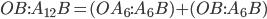 OB:A_{12}B = (OA_{6}:A_{6}B) + (OB:A_{6}B)