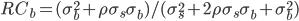 RC_b=(\sigma_b^2+\rho\sigma_s\sigma_b) / (\sigma_s^2+2\rho\sigma_s\sigma_b+\sigma_b^2)