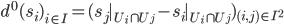 d^0(s_i)_{i\in I} = (s_j|_{U_i \cap U_j} - s_i|_{U_i \cap U_j})_{(i, j) \in I^2}