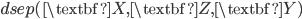 dsep(\textbf{X},\textbf{Z},\textbf{Y})