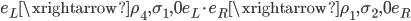 e_L \xrightarrow{\rho_4, \sigma_1, 0} e_L \cdot e_R \xrightarrow{\rho_1, \sigma_2, 0} e_R